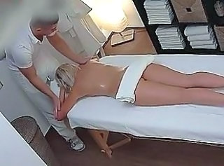 Beautiful Blonde Gets Nobble Rub-down & Fuck as Bonus