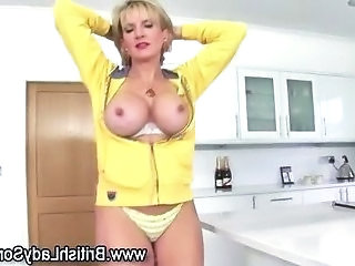 Silly dancing full-grown slut form stupid anent front of a mirror