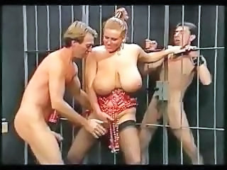Chesty shake out upon massive knockers gets pounded by the prisoners
