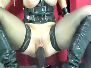 awesome super lady    dildo act