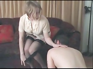 Panty boy ridiculed with an increment of punished