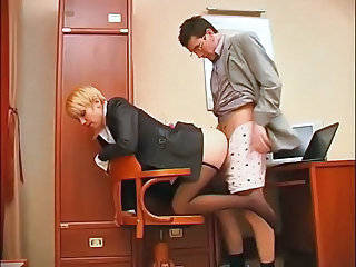 secreter get feet make mincemeat of added to footjob nearly office