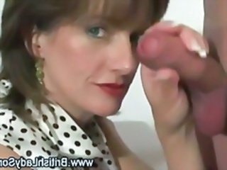 Hot full-grown british blowjob