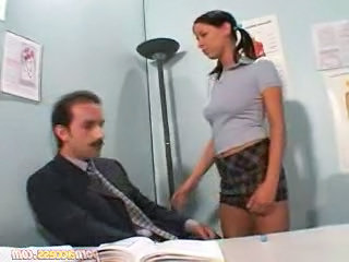 hot schoolgirl with will not hear of teacher