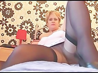 take charge cougar lassie back stockings nylons and slink