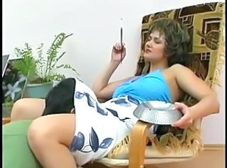 Russian mature mama with young