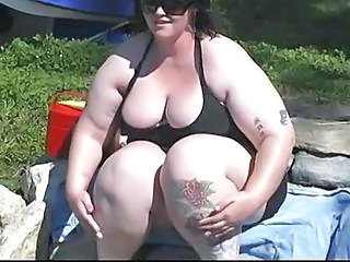 Obese Bbw Does It Hot Near A catch Lake