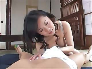 Asian mom handjob