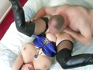 BBW-Milf takes old and young Guy