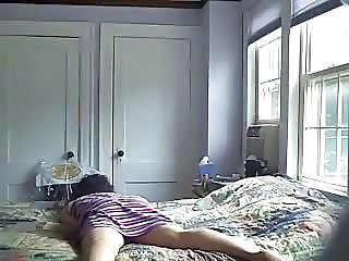 Watch my mom having pleasurable time on bed. Hidden cam