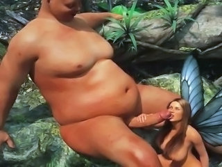 beauty in a rub-down the forest