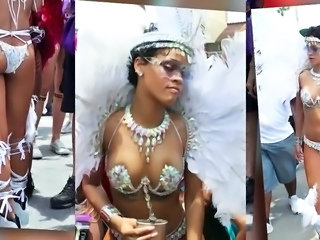 Rihanna at Barbados Tow-headed 2013