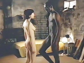 Brunette white girl on touching black lover - Softcore Interracial