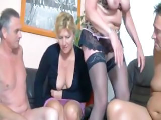 Haughty Posture Round Deutchland With This Plump Blonde Granny With the addition of Her Gal...