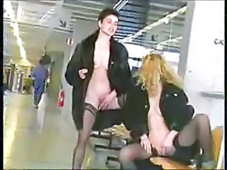 Two french lesbians in airport
