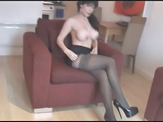 Silly Fake Tits Matured in the matter of Pantyhose and Stockings