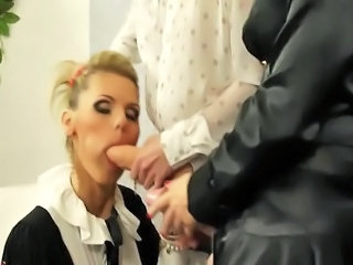 Glamorous lesbos play around strapons and they can't succeed in enough